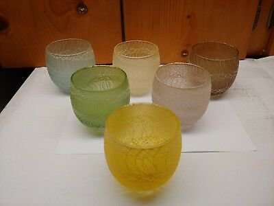 6 Spaghetti String Mid Century Roly Poly 10 Ounce Tumbler Drinking Glass