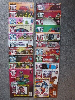 2000AD weekly progs, 20 issues, (819 to 838, 1993)