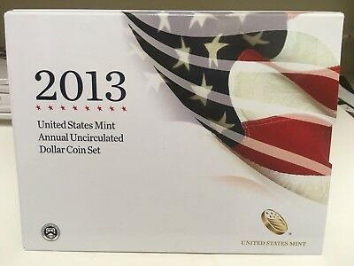2013 US Mint Annual Uncirculated Dollar Coin Set  (XA5)