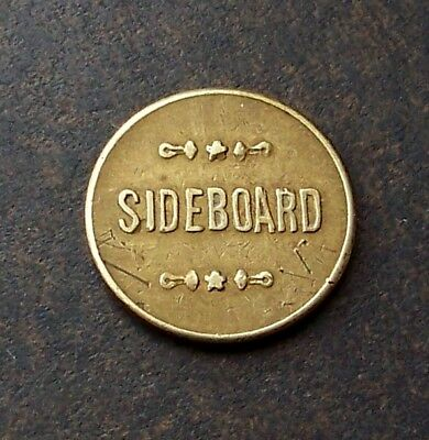 Moore Montana / The Sideboard / 1 Drink Saloon Token / Antique Trade Token