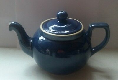 Denby Pottery Tea Pot Blue Unused 1.3/4 Pints