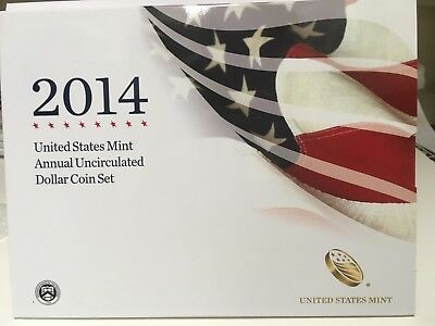 2014 US Mint Annual Uncirculated Dollar Coin Set  (XA6)