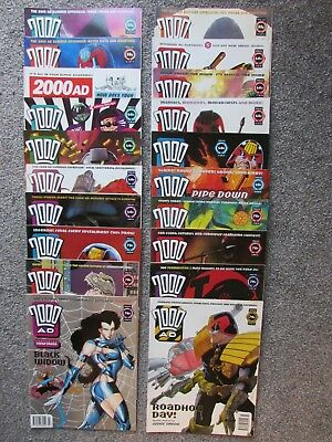 2000AD weekly progs, 20 issues, (839 to 858, 1993)