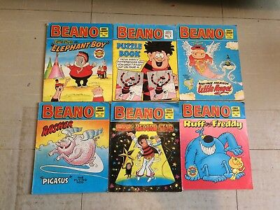 6x Beano Comic Library Comics