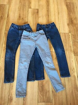 3 pairs of boys NEXT skinny jeans age 8 years. Adjustable strap Exc Condition