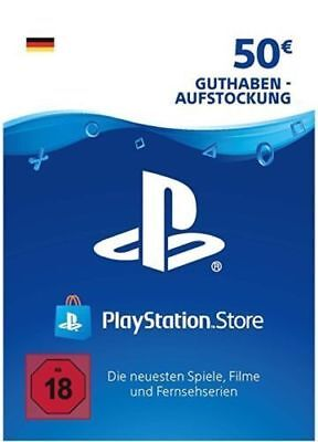 50 EUR EURO Playstation PSN Network Card Key 50€ Prepaid Card - PS3 PS4 PSP - DE