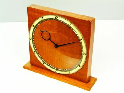 Rare Art Deco Bauhaus Wood Desk Clock  Kienzle Dsign By Heinrich Moeller