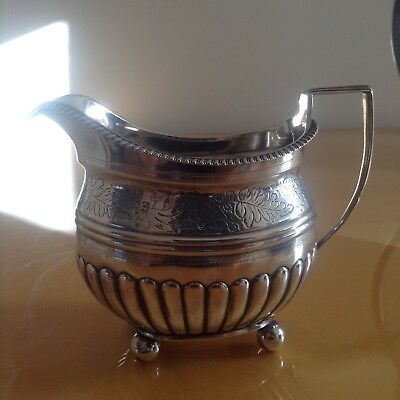 Solid Silver Hallmarked Georgian Milk Jug, 1809, Historical Inscription, Heavy.