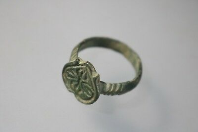 Ancient Fantastic Roman Bronze Ring 1st 3rd century AD