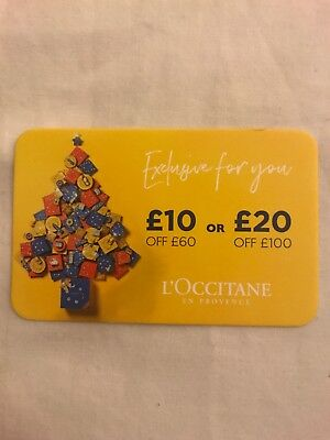 L'Occitane En Provence £10 Or £20 Voucher  When You Spend £60 / £100 New Posted