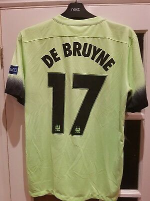 new style 03893 f99db MAN CITY 2015/16 3rd SHIRT 2015/16 Champions League #17 De Bruyne M