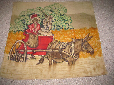 Antique or Vintage Chase Horse Hair Blanket Donkey