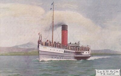 STEAMER PS Juno GLASGOW & SOU'WESTERN Sailing FIRTH of CLYDE Arran Dunoon LARGS