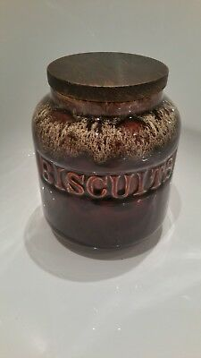 Vintage Fosters Pottery Biscuit Storage Jar Honeycomb