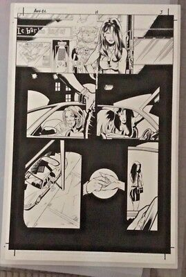1996 Angel Dark Horse Comics Production Art board Angel Issue 11 Page 3