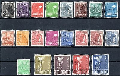 Germany - Allied Occupation - Full Set - Used Nh