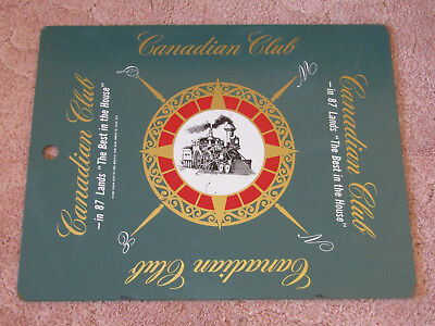 Vintage Canadian Club Walker's Deluxe sign display ad whiskey locomotive train