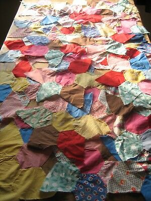 "Antique/Vintage Amish made stars for quilt top - 27 colorful 16"" quilting stars"