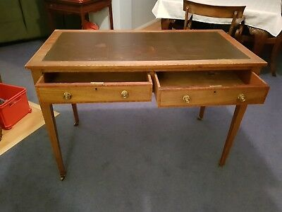 Antique Leather-topped writing table