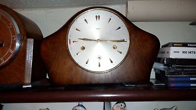 British made Smiths wind up floating balance Westminster chime Mantel Clock