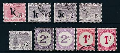 [50811] Basutoland Due good lot Used Very Fine stamps