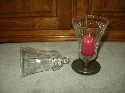 Home Interiors 2 CL RENAISSANCE VOTIVE CUPS Candleholder Crystal Clear Homco