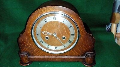 vintage English made `Enfield Royal` wind up Wooden Mantel Clock Art Deco