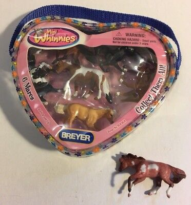NEW-Breyer Mint In Package Mini Whinnies #3000101 6 mares Pouch & 1 extra Mare