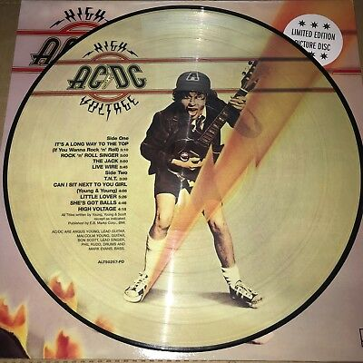 Ac/dc, High Voltage,180 Gram Picture Disc Vinyl Lp, New 2018 Eu Import
