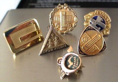 Vintage 10K Solid Yellow Gold Service pins 9.47 g grams