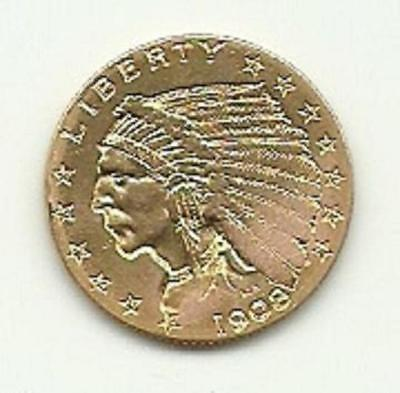 1908 $2.50 Indian Head Gold Quarter Eagle