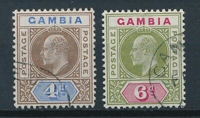 [51146] Gambia 1902-05 lot 2 good Used Very Fine stamps (simple CA wtmk)