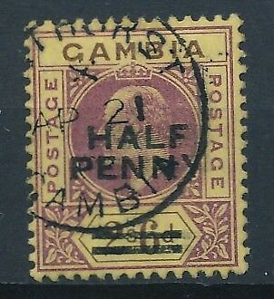 [51149] Gambia 1906 good Used Very Fine stamp $90