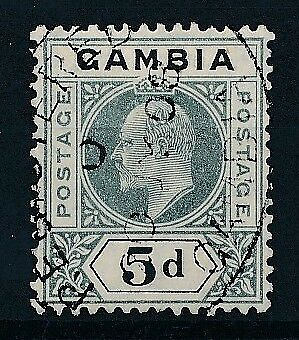 [51157] Gambia 1905 good Used Very Fine stamp (multiple CA wtmk)