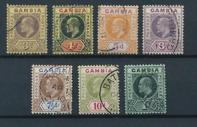 [51163] Gambia 1909 good lot Used Very Fine stamp (multiple CA wtmk)