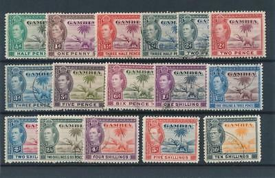 [51185] Gambia 1938-46 good set Used Very Fine stamps $65