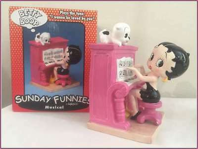 """Betty Boop Musical Piano Play """"I wanna be loved by you"""" Rare, Collectable-NEW"""