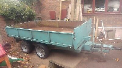 Tipping, Tipper Trailer. Not Ifor Williams, make unknown.
