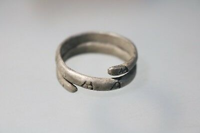 Unique Ancient Viking Scandinavian Silver Ring  8-10th Century AD.