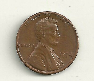 1974 Ddo Lincoln Memorial Penny Doubled Die