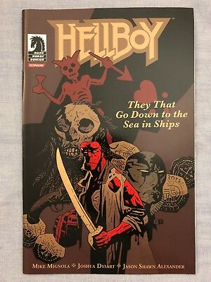 Hellboy Konami Exclusive Variant They That Go Down To The Sea In Ships SDCC