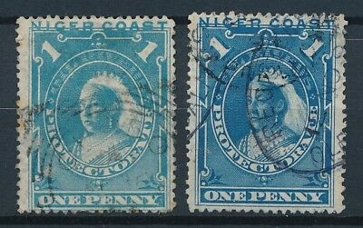 [51635] Niger Coast 1893 lot 2x good Used Very Fine stamp (color shade)