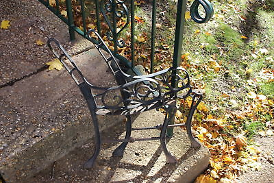 Vintage Garden Park Bench Architectural Support Arms-Pair-Small Size-Cast Metal