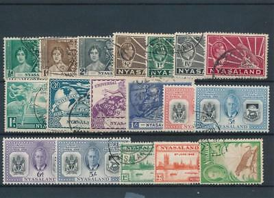 [51729] Nyassaland good lot Used Very Fine stamps