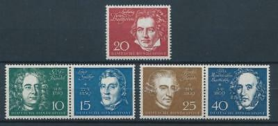 [51763] Germany 1959 Beethoven good set MNH Very Fine stamps