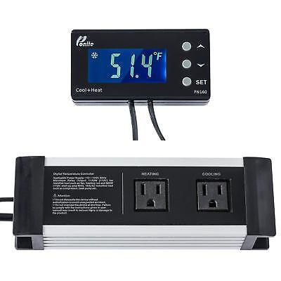 Poniie PN160 Digital Temperature Controller Thermostat Outlet pn 160 NEW