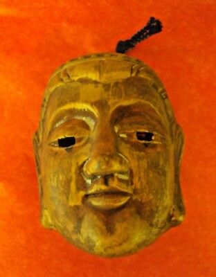 Vintage Asian Buddha Head Gold Wash Over Red Clay Bell - Signed By Craftsperson