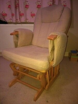Nursing Glider Maternity Chair and footstool