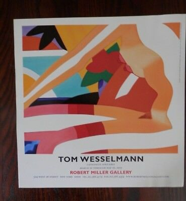 """2003 Print Ad, Tom Wesselmann Art Exhibition,""""Sunset Nude With Red Stockings"""""""