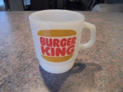 Rare Vintage Fire-King Burger King Anchor Hocking Coffee Mug Very Good 1970s
